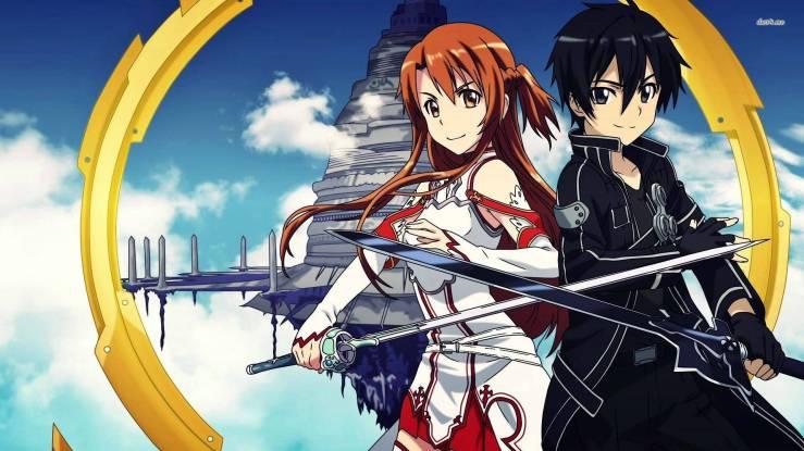 Asuna and Kirito, Sword Art Online