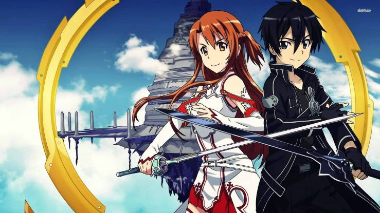 Asuna and Kirito, Sword Art Online