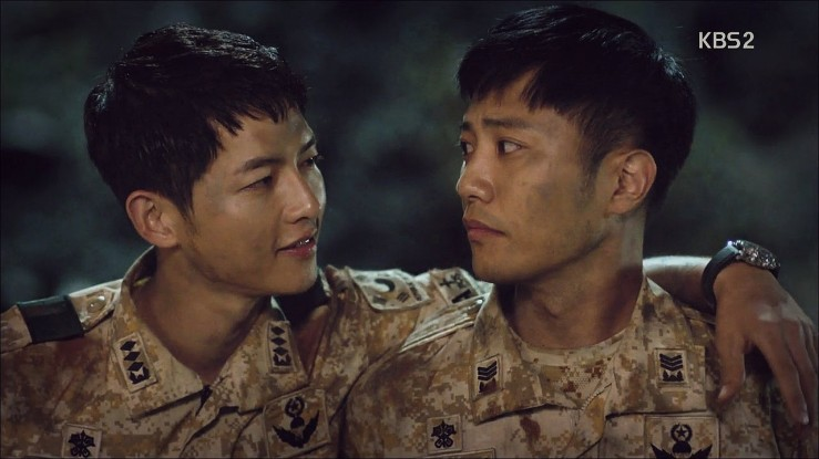 Big Boss (Song Joong Ki) and Wolf (Jin Goo), Descendants of the Sun